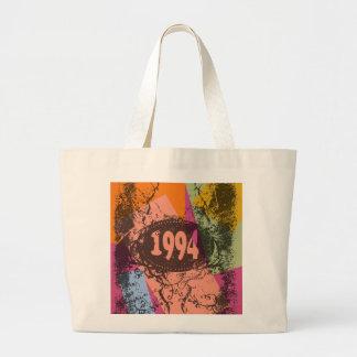 Arte pop colorido 1994 - bolso bolsa tela grande