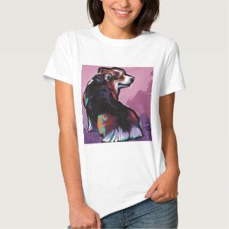 Arte pop colorido del Corgi Galés del Pembroke T-shirt