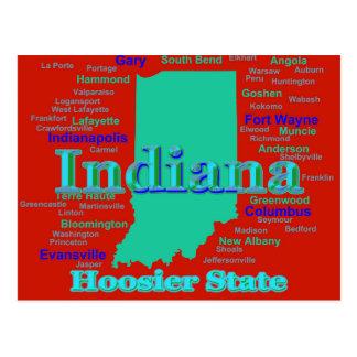 Arte pop colorido del mapa del orgullo del estado postal