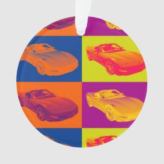 Arte pop convertible del coche del músculo del