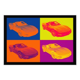 Arte pop convertible del coche del músculo del fotografía