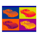 Arte pop convertible del coche del músculo del postal