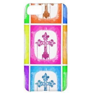 Arte pop cristiano de las cruces coloridas