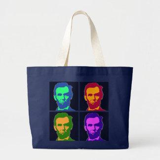 Arte pop cuatro Abraham Lincolns Bolsa Tela Grande