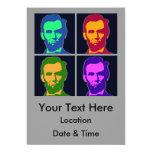 Arte pop cuatro Abraham Lincolns Invitación 12,7 X 17,8 Cm
