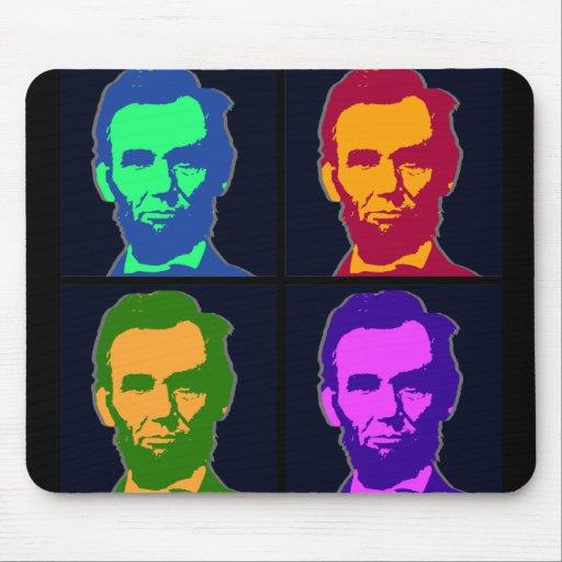 Arte pop cuatro Abraham Lincolns Tapete De Ratones