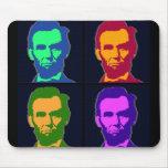 Arte pop cuatro Abraham Lincolns Alfombrilla De Raton