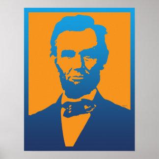 Arte pop de Abraham Lincoln Póster