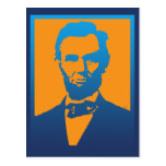 Arte pop de Abraham Lincoln Tarjeta Postal