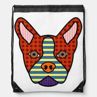 Arte pop de Boston Terrier Mochila