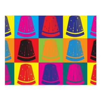 Arte pop de costura tarjetas postales