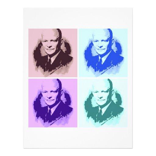 Arte pop de Dwight D Eisenhower Tarjetas Informativas