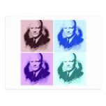 Arte pop de Dwight D Eisenhower Postal
