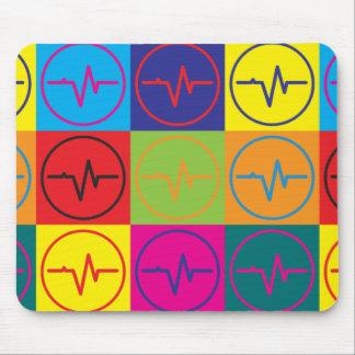 Arte pop de EEG Alfombrilla De Ratones