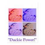 Arte pop de goma de Duckie Tarjeta Postal