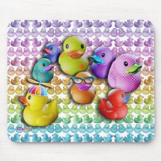 Arte pop de goma de Duckies del cojín de ratón Tapete De Ratones