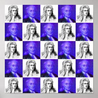 Arte pop de Isaac Newton Poster