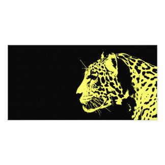 Arte pop de Jaguar Tarjetas Fotograficas Personalizadas