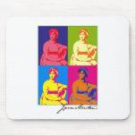 Arte pop de Jane Austen Alfombrilla De Ratones