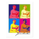 Arte pop de Jane Austen Tarjeta Postal