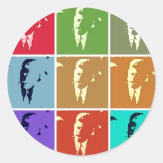 Arte pop de John F. Kennedy /JFK Pegatina Redonda