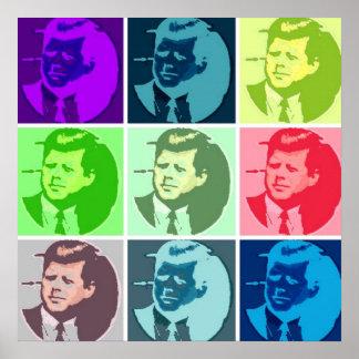 Arte pop de John F. Kennedy /JFK Póster