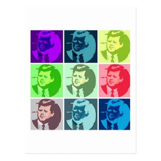 Arte pop de John F. Kennedy Postal