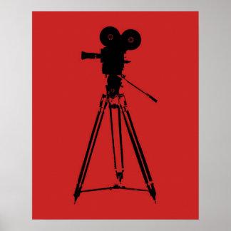 Arte pop de la cámara de la película de cine póster