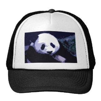 Arte pop de la cara de la panda gorras