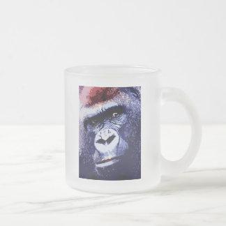 Arte pop de la cara del gorila taza de cristal