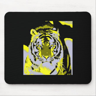 Arte pop de la cara del tigre tapete de ratones