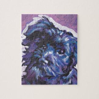 Arte pop de la diversión del perro de Havanese Rompecabezas