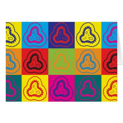 Arte pop de la epidemiología tarjeta de felicitación