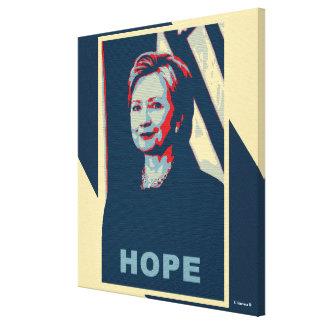 Arte pop de la esperanza de Hillary Clinton