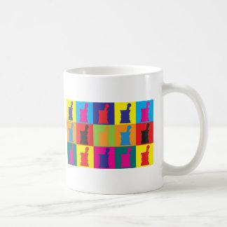 Arte pop de la farmacología taza de café