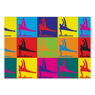 Arte pop de la gimnasia tarjetas