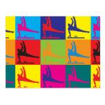 Arte pop de la gimnasia tarjetas postales