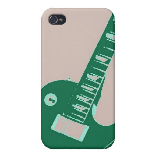 Arte pop de la guitarra eléctrica iPhone 4 protector