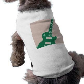 Arte pop de la guitarra eléctrica playera sin mangas para perro
