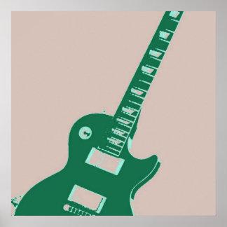 Arte pop de la guitarra eléctrica póster