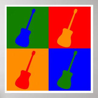 Arte pop de la guitarra póster