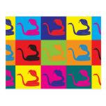 Arte pop de la herpetología tarjeta postal