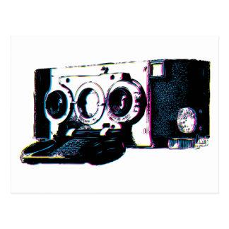 Arte pop de la imagen de la cámara del vintage de postal