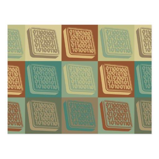 Arte pop de la ingeniería de programas tarjeta postal