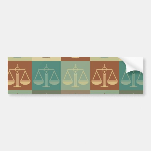 Arte pop de la justicia penal pegatina de parachoque