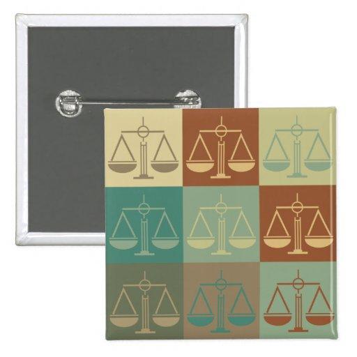 Arte pop de la justicia penal pin