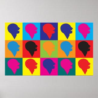 Arte pop de la logopedia póster