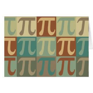 Arte pop de la matemáticas tarjeta de felicitación
