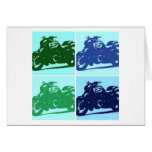 Arte pop de la motocicleta tarjetas