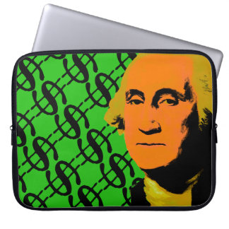 Arte pop de la muestra de dólar de George Funda Portátil